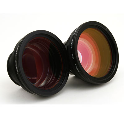 F-Theta Scan Lens Options: F-100, F-160, F-254, F-330, F-420 (Depending on Model)